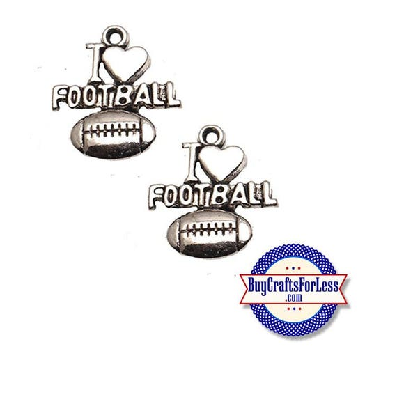 Football Charms, LOVE FOOTBALL, 6, 12, 24 pcs +FREE SHiPPiNG & Discounts