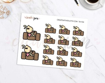 TA24 | Tinta | Relax on Couch | Planner Stickers