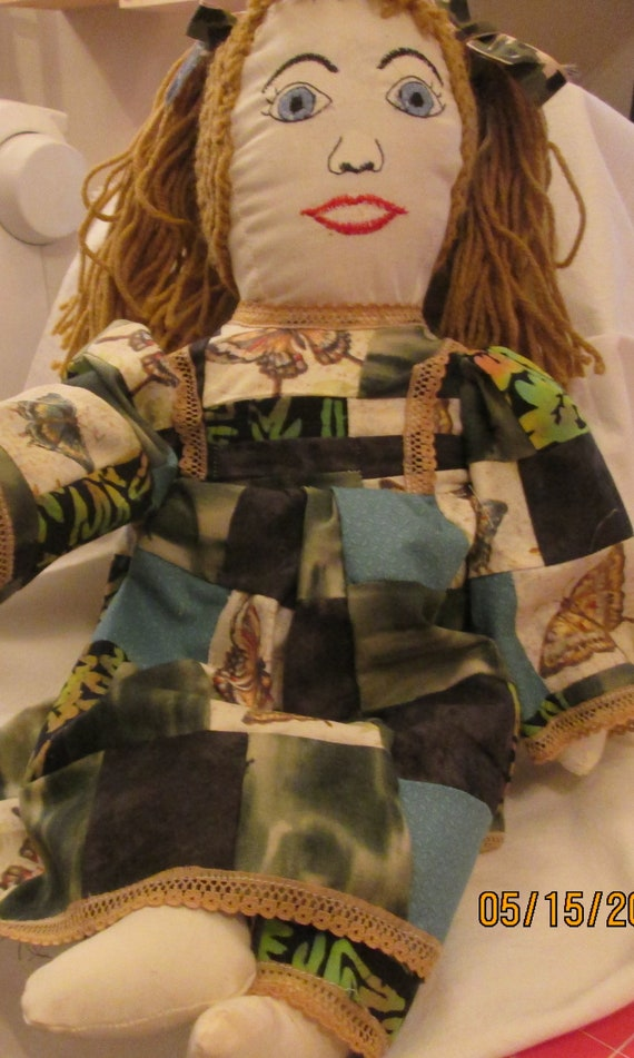 Patchwork Butterfly camo Doll