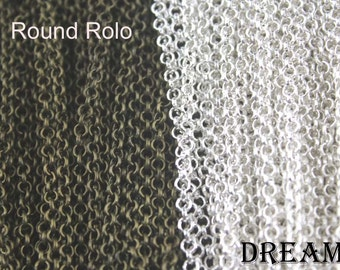 Rolo Chain Necklace- Vintage Rolo Chain - Silver Ant Bronze - prefered length as your choose - 50pcs/lots