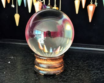 Large Crystal Ball, 4 inches Gazing Sphere / Wicca Divining Tool