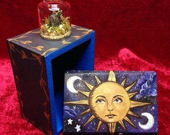 CUSTOM REQUEST - miniature terrarium - mini garden - tiny fantasy world - fairy tale