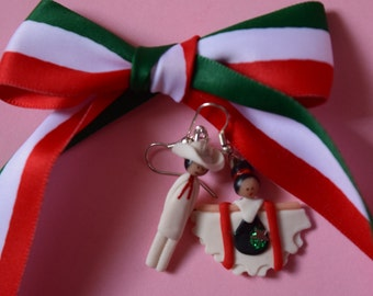 Mexican Traditional Dance Earrings Handmade