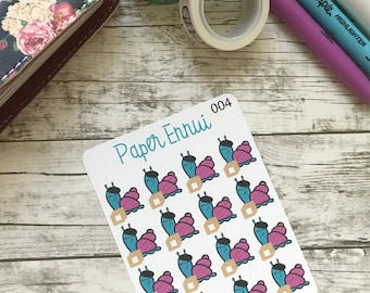 Bridgette the Snail Happy Mail Planner Stickers Box