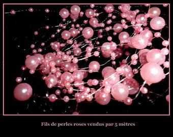 5 Metters DECO wedding pink pearls