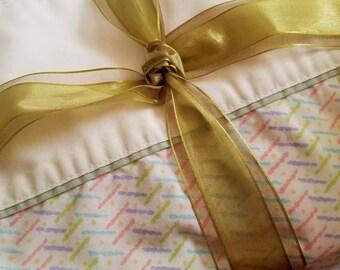 Twin Sheet Set - Flat + Fitted + Pillowcase - vintage, yet modern.