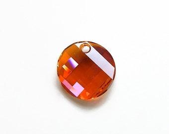 Swarovski crystal twist pendant 18mm crystal copper 6621