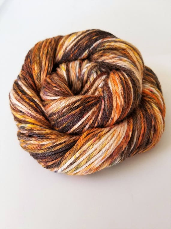 Nutmeg and Cloves- 100% Cotton, Hand Dyed, Speckled, Bulky Weight, Variegated Yarn