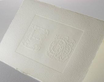 clichè for embossing paper