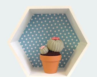 Crocheted Cactus--Medium-Sized Barrel Cactus