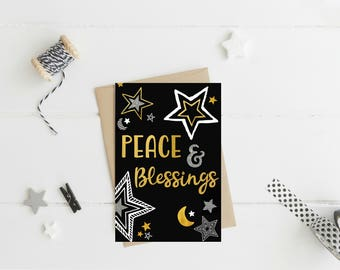 Peace & Blessings Card