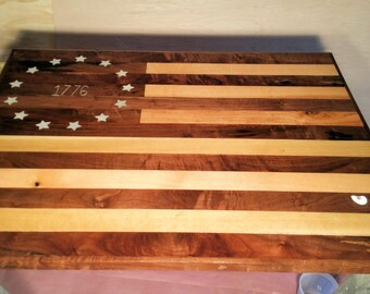 Walnut and Oak Flag table top