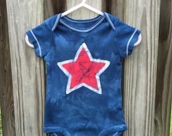 4th of July Baby Bodysuit, Patriotic Baby Bodysuit, Fourth of July Baby Shirt, Red Star Baby Bodysuit, Patriotic Baby Shirt