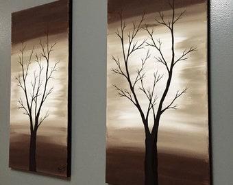 2 Piece Neutral tone trees