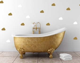 Cloud Pattern | Vinyl Wall Sticker,  Decal Art | Set of Cloudes, 2-inch or 4-inch wide