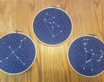 Made to Order Custom Made Cross Stitch Constellation