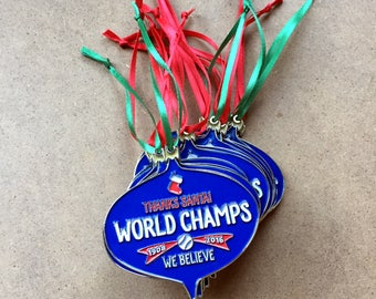 SALE! 15% OFF! Holiday Ornament – Thanks Santa! Chicago World Champs 2016