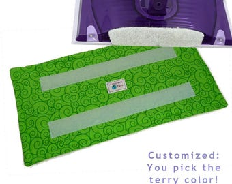1+ Reusable Swiffer Wet Jet Pads, LIME GARDEN SWIRL, Washable EcoGreen  Pad, EcoSwift, EcoFriendly, Flat shipping, customized terry colors