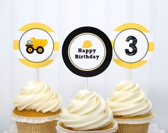 Construction Cupcake Toppers