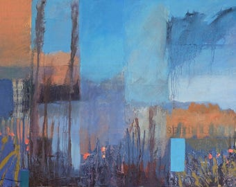 Spirits of the Winter Bosque ~ Original Contemporary Abstract Landscape Painting