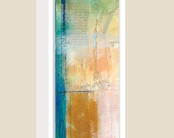 Quiet Secrets ... No. 1...  Original Contemporary Modern mixed media art painting ready to hang by Kathy Morton Stanion EBSQ