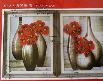 5D Die Lian Hua- Flowers Cross Stitches Kit (5D-216)