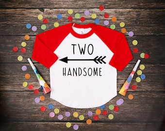 Two Handsome | Two Year Old Birthday Shirt | Second Birthday Boy Shirt | 2 Birthday Boy Shirt | 2nd Birthday Shirt | Birthday Boy
