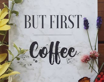 But fist Coffee Marble print