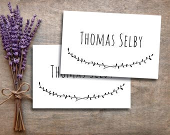 Place Card Template - Editable Place Card - MS Word Placecard Template - Rustic Place Card - Name Card - INSTANT DOWNLOAD The Capistrano