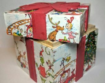 Dr Seuss Christmas Character Box / Dr Seuss Christmas