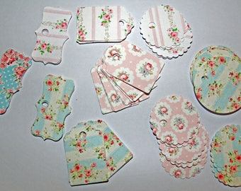"Set of 50 labels ""Spring"" for scrapbooking, gifts or for your creations"
