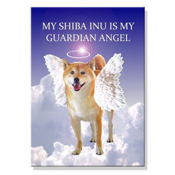 Shiba Inu Guardian Angel Pet Loss Fridge Magnet