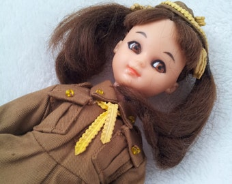 Vintage Brownies Doll with Uniform Girl Guides Scouts Collectible
