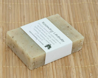 Rosemary Lavender Soap Scented with Essential Oils, 4 Ounces