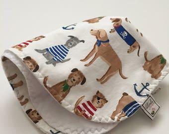 custom baby lovey/blanket ~ navy salty dog ~ chic couture ~ baby accessories ~ custom baby lovey/blanket from lillybelle designs
