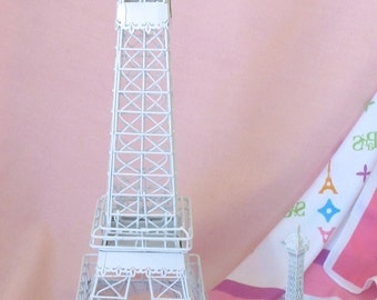 Wedding White Eiffel Tower Embellished Shabby Chic Replica Centerpiece