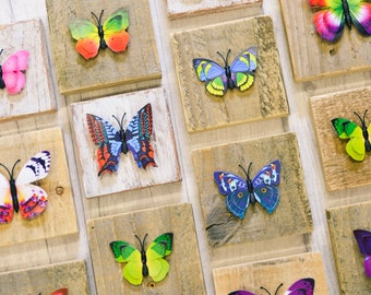 Small wooden butterfly home decoration
