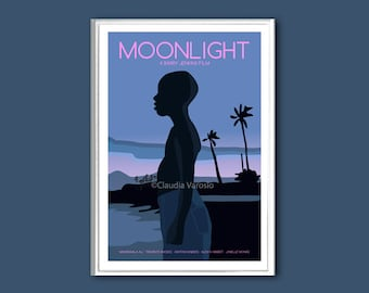 Moonlight film poster print in various sizes