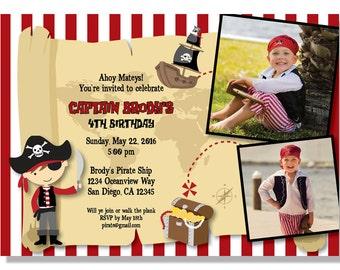 Pirate Birthday Invitations - Digital File