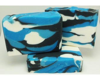 Blue Camouflage Cool Water Handcrafted Artisan Soap 204603