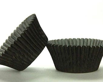 500pc Mini Black Baking Cup With Greasepoof Liner