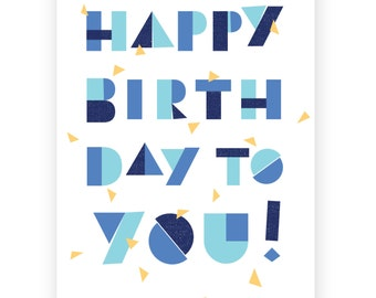 Happy Birthday to You • Single Card