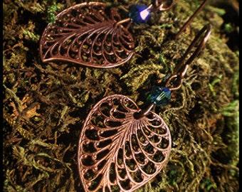 Vintaj Leaf Earrings