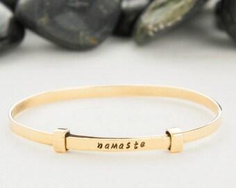 Yoga Bracelet, Yoga Jewelry, Namaste Jewelry, Namaste, OM Bracelet, Lotus Flower, Yoga Gift, Zen Jewelry, Lotus Bracelet, Yoga, Gift For Her