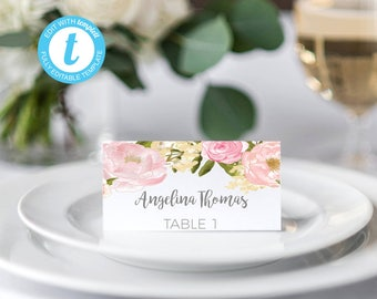 Wedding placecards, tent wedding cards, place card template, wedding place cards, printable place cards,  printable place cards