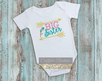 Big Sister, Big Sister Embroidered T-shirt, Embroidered T-shirt