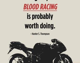 """Ducati Superbike Print - """"Blood Racing"""""""