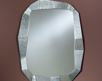 Miroir Moderne SHIFT SILVER Rectangulaire Argent 92x127  cm