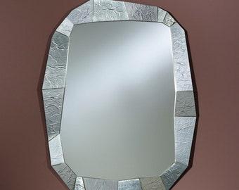 Modern SHIFT SILVER rectangular silver 92 x 127 cm mirror