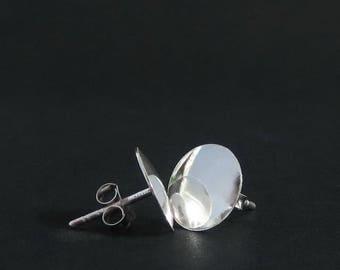 Dome 10 mm 925 Sterling Silver Round Stud Earrings Plain Circle Post Earrings Simple Stud Earrings Silver Stud Earrings Minimalist Jewelry